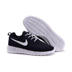 Nike Roshe Run Fur Ink Spot Black Speckled White Shoes Suede | roshe run