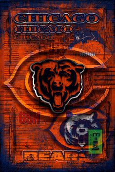 A personal favorite from my Etsy shop https://www.etsy.com/listing/467391447/chicago-bears-poster-chicago-bears-art