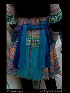 South West China | The colourful embroidered and beaded Miao traditional dress | © Boaz Images.