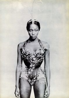 'White Diamonds', Naomi Campbell by Paolo Roversi, Vogue Italia May 1997.  John Galliano Spring Summer 1997 Ready-to-Wear
