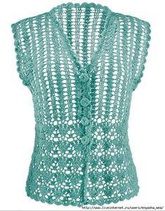 As Receitas de Crochê: Blusa de verão em crochê