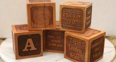 Custom cherry baby block, keepsake, Personalized, heirloom quality gift