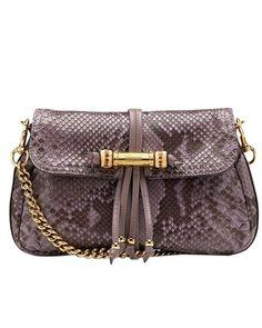 Gucci python with mauve evening bag - $279