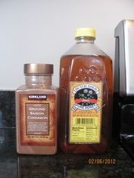 THE BEST Relief for a sore throat:  1 tsp. Cinnamon + 2 tsp. Honey + 8 to 10oz. of hot water = tickle in throat gone, pain from sore throat gone, cough soothed :)   Repeat as necessary  **...to get the best tasting cup use ground Saigon cinnamon  a good quality honey like Dutch Gold pictured here, others taste good but not as good as when you use Saigon cinnamon :)**