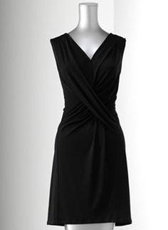 Simply Vera Vera Wang Simply Separates Crisscross Crepe Sheath Dress