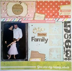 layout scrapbooking scrapourstash our lucky family
