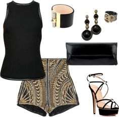 """Leather Shorts"" by celene310 on Polyvore"