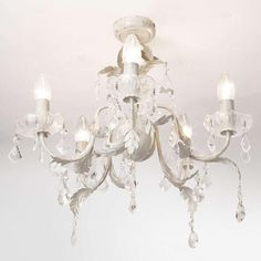 Juliette 5 Light Flush Fitting Chandelier - lighting sale - Home, Lighting & Furniture. BHS WAS now Chandelier In Living Room, Ceiling Lights, Ceiling Chandelier, Bedroom Lighting, Chandelier Lighting, Beautiful Lighting, Chandelier, Fittings, Lighting Sale