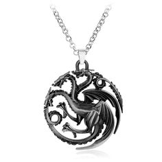 The Game Of Thrones Targaryen Pendant Necklace Fire And Blood Dragon Pendant Necklace #Affiliate