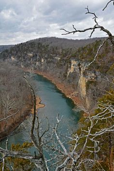 View of the Meramec River from the Vilander Bluff Trail in Onondaga Cave State Park. Park Trails