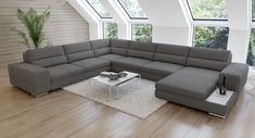#LivingroomDecor Living Room Sofa Design, Bedroom Bed Design, Living Room Modern, Living Room Designs, Sectional Sofa Decor, Furniture Sofa Set, Living Room Furniture, Modern Furniture, Modern Sofa Designs