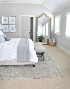 New home? Feel like you need to revamp your bedroom? These 20 Master Bedroom Dec… New home? Feel like you need to revamp your bedroom? These 20 Master Bedroom Decor Ideas will give you all the inspiration you need! Come and check them out Gray Bedroom, Trendy Bedroom, Bedroom Colors, Home Decor Bedroom, Living Room Decor, Bedroom Ideas, Master Bedrooms, Bedroom Furniture, Bedroom Designs