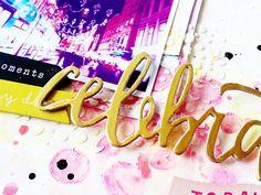 Scrapbooking Mixed Media Process-April Hip Kit Club Kits- Stencils