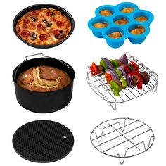 Cook more than ever before with the 6 Piece Cosori Air Fryer Accessory Set! Air Fryer Accessory Set Includes: 1 x Cake Pan; 1 x Pizza Pan; 1 x Metal Holder; 1 x Multi-Purpose Rack with Skewers; 1 x Egg Bites Mold with Lid Bulthaup Kitchen, Air Fryer Review, Electric Air Fryer, Best Air Fryers, Cooking Recipes, Healthy Recipes, Cooking Tips, Food Tips, Snacks Recipes