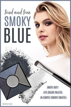 Out with the old, in with the blue! Our luxurious eye color palette lets you move from a subtle smoky daytime look to a dramatic evening effect. Contour Makeup, Makeup Eyes, Contouring, Chocolate Blonde, Makeup Workshop, Asian Eye Makeup, Makeup Portfolio, Mary Kay Cosmetics, Bright Hair Colors