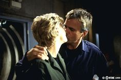 Stargate SG-1 Samantha Carter and Jack O'Neall kissing! <3