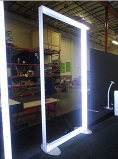 Inside of the modular frame showing the LED light bars we use on our custom modular lightbox displays.  Visit - http://www.indydisplays.com/114-modular-lightbox-displays