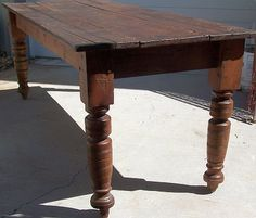3 board pine top harvest table
