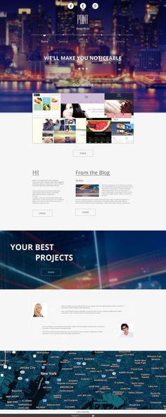 Flat Asphalt - One pager Prallax HTML 5 Template Free Creative