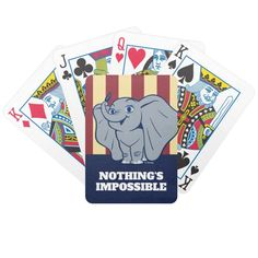 Dumbo | Cartoon Dumbo Holding Up Feather Bicycle Playing Cards #dumbo #movie #dumbo #live #action #BicyclePlayingCards #children #gifts #playingcards #puzzles #sports #basketball #football #cards #football #pingpong #childrensbirthdaygifts Dumbo Cartoon, Dumbo Movie, Bicycle Playing Cards, Sports Basketball, Football Cards, Live Action, Gifts For Kids, Puzzles, Birthday Gifts
