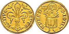 """German States (Pfalz) Kurfurstentum AV Goldgulden ND struck 1354/9 Bacharach Mint Ruprecht I """"Der Rote"""" 1353-90"""