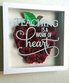 Image result for shadow box with white rolled flowers