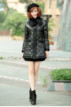 Come on.Free Shiping!!Only sale $96.17.Fashion black orange medium-long women down coat white duck down with fur collar ladies'padded jacket clothing.Material:100% ployester   Lining:100% ployester  .Edition type:standard  .Thickness:thicken  .Collar removable .Clothing is equipped with a snap-on tie can make the neck more warm.Soft collars show nobility,elegant,diamond-type lattice deisgn,Make clothes more solid.All show the unique design.