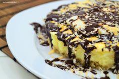 Knusper-Kokos-Cheesecake mitSchoko-Kokos-Sauce #ichbacksmir #kaesekuchen