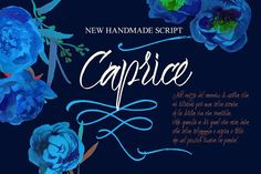 Caprice Script + Vector Flower Bonus by Vera Holera on @creativemarket