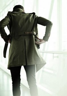 Green trench coat - men's fashion & men's style