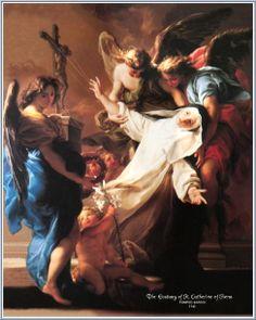 The Ecstasy of St. Catherine of Siena, Pompeo Batoni, 1743