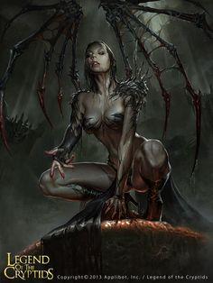 Artist: Changming Xu aka ChangMing - Title: The Hell Witch adv - Card: Miasma-born Arcelia (Incubation)