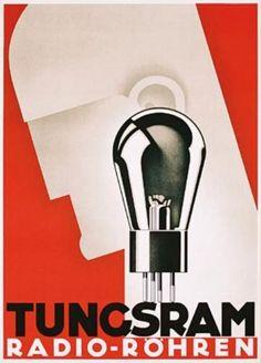Anonym, Deutschland, 1933, Tungsram Radio - Röhren Stamp Offset, 119 x 83 cm.