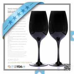 Customized Mouth Blown Fancy Black Colored Long Stem Wine Glass, View black wine glass, Sanzo Product Details from Shanxi Sanzo Glasswork Co., Ltd. on Alibaba.com