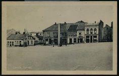 Vestfold fylke Larvik Torvet ca 1900. med Joh Preutz Boghandel, Fotograf Anna Bergaust