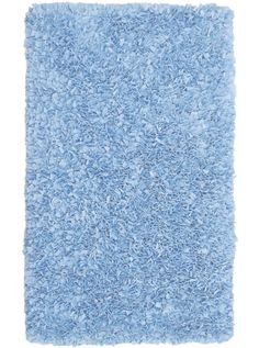 This Kids Shaggy Raggy Light Blue Collection pastel tone rug (02203) is manufactured by The Rug Market.