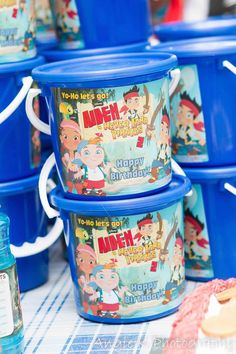 Jake and the neverland pirate party buckets