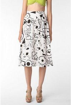 UrbanOutfitters.com > Staring at Stars Constellation Linen Skirt - StyleSays
