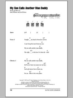 Preview Hank Williams My Son Calls Another Man Daddy Country sheet music, notes and chords for Piano, Vocal & Guitar (Right-Hand Melody), SKU: 64015