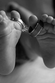 Newborn Photo Shoot | Baby Feet | Rings | Engagement | Raleigh Photography | Azkalynn Photography | Photography | Newborn | Military Newborn | Wedding Ring | Photo Idea | Pose www.facebook.com/azkalynnphotography