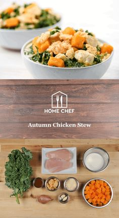 Autumn Chicken Stew - Home Chef - Beth made it Chef Recipes, Keto Recipes, Snack Recipes, Snacks, Chicken And Butternut Squash, Home Chef, Keto Meal Plan, Weeknight Meals