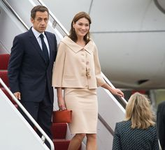 September 25, 2009 - Carla Bruni-Sarkozy with Nicolas Sarkozy in Pittsburgh, Pennsylvania - World Leaders Gather For G20 Summit