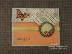 great file folder card for Thanksgiving or fall event using the Papillon Potpourri stamp set - love the little butterflies. Check out the how to video and see more information about it on my blog. www.stampwithjini.com