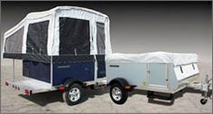 Quicksilver automotive tent camper - exterior, open and closed - with 2010 azure blue model Small Camper Trailers, Small Trailer, Camping Trailers, Cargo Trailers, Utility Trailer, Travel Trailers, Camping Glamping, Camping Life, Camping Gear