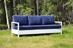 Ana White | Build a Simple White Outdoor Sofa | Free and Easy DIY Project and Furniture Plans