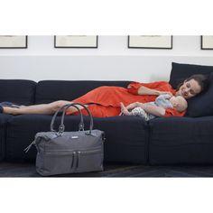 Sac à langer Caroline nylon gris : Storksak
