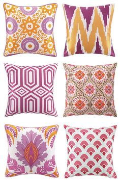 Love the patterns on these throw pillows.