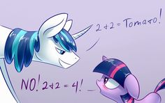 Shining Math by Underpable on DeviantArt My Little Pony Cartoon, My Little Pony Twilight, Funny Punch Lines, My Little Pony Collection, Princess Twilight Sparkle, Princess Luna, Mlp Memes, Little Poni, Mlp Pony