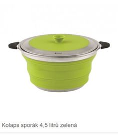 Outwell Collaps Cooking Pot with Lid Lime Green Caravan, Rice Cooker, Compost, Lime, Kitchen Appliances, Cleaning, Cooking, Outdoor, Tent Camping