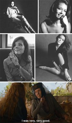Game of Thrones' Olenna Tyrell - OMG I thought I knew her from somewhere, she was Emma Peel!